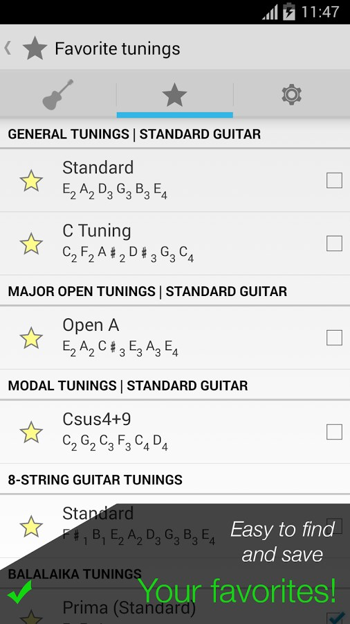 Pro Guitar Tuner - Imagem 4 do software
