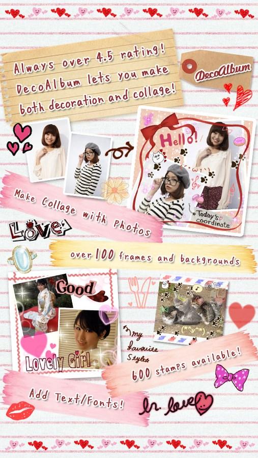DecoAlbum Purikura Camera - Imagem 1 do software