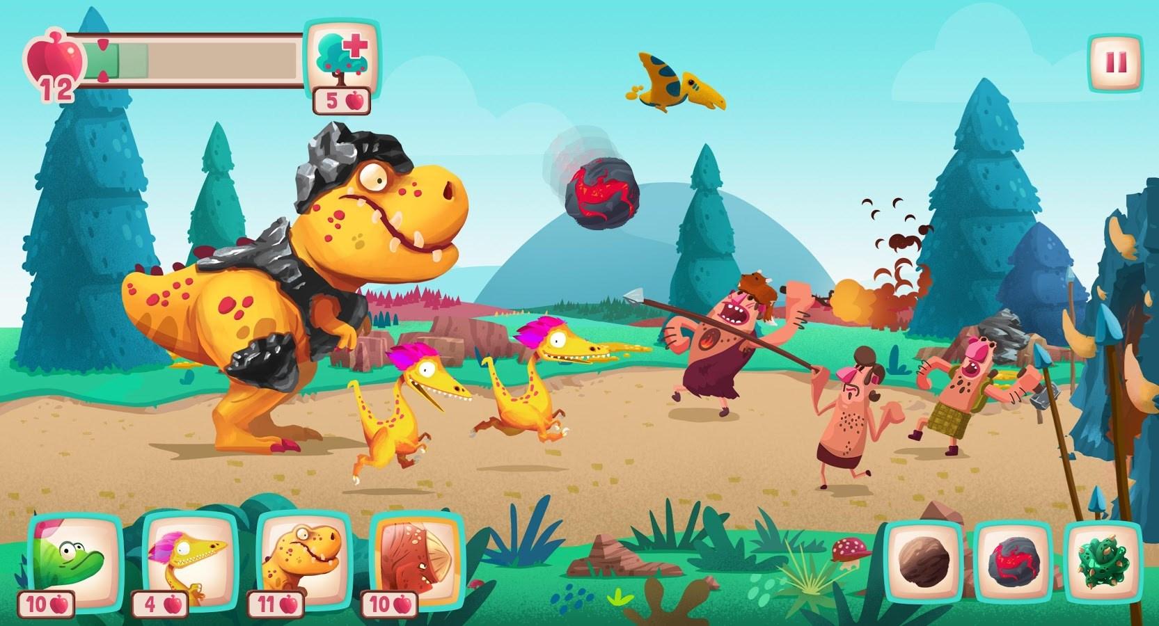 Dino Bash - Dinos v Cavemen - Imagem 1 do software