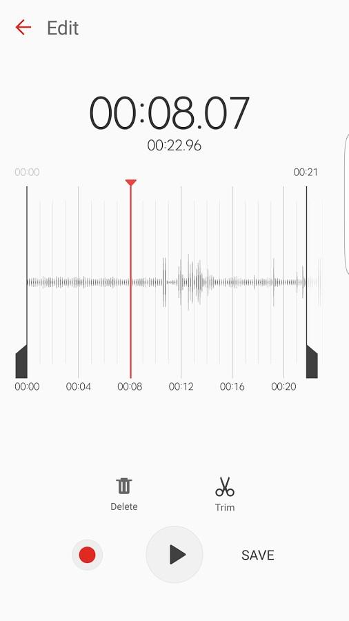 Samsung Voice Recorder - Imagem 2 do software