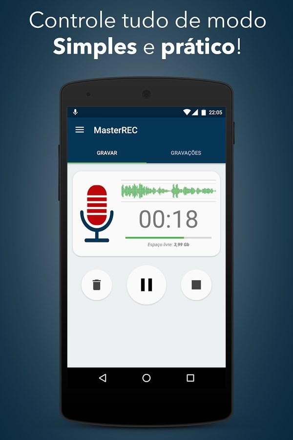 Gravador de Voz (MasterREC) - Imagem 1 do software