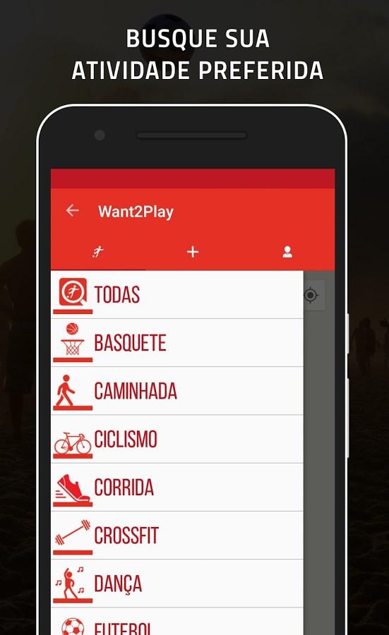 Want2Play – Esportes em grupo - Imagem 1 do software