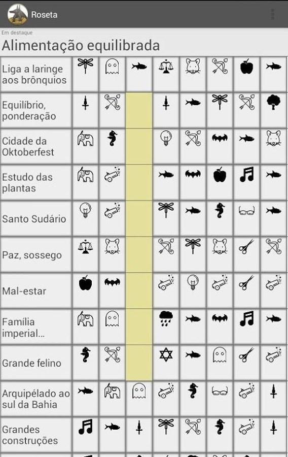 Roseta Criptogramas - Imagem 1 do software