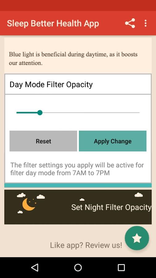 Night Shift: Blue Light Filter - Imagem 1 do software
