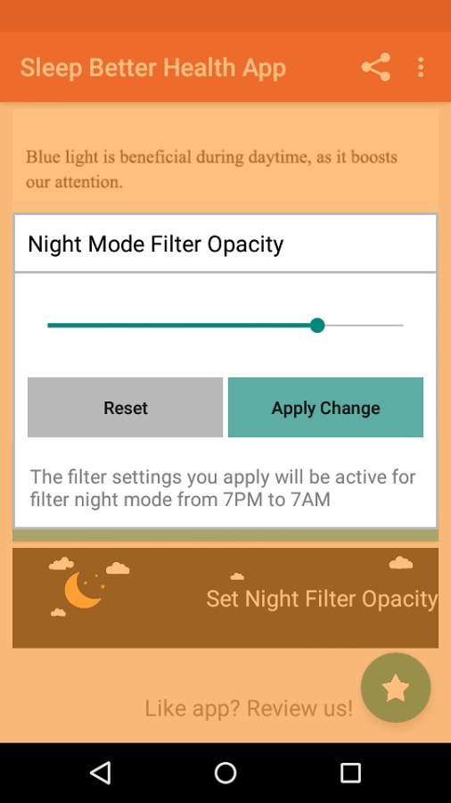 Night Shift: Blue Light Filter - Imagem 2 do software
