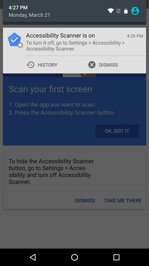 Accessibility Scanner - Imagem 1 do software