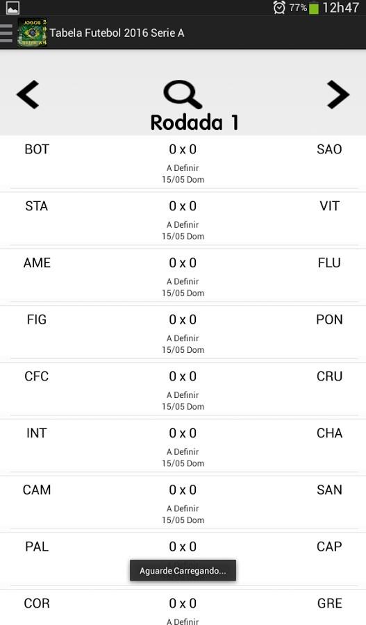 Tabela Brasileirão 2016 - Imagem 2 do software