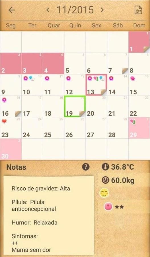 Calendário do Período - Imagem 2 do software