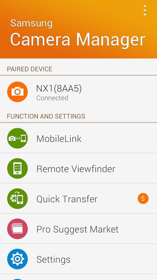 Samsung Camera Manager App - Imagem 1 do software