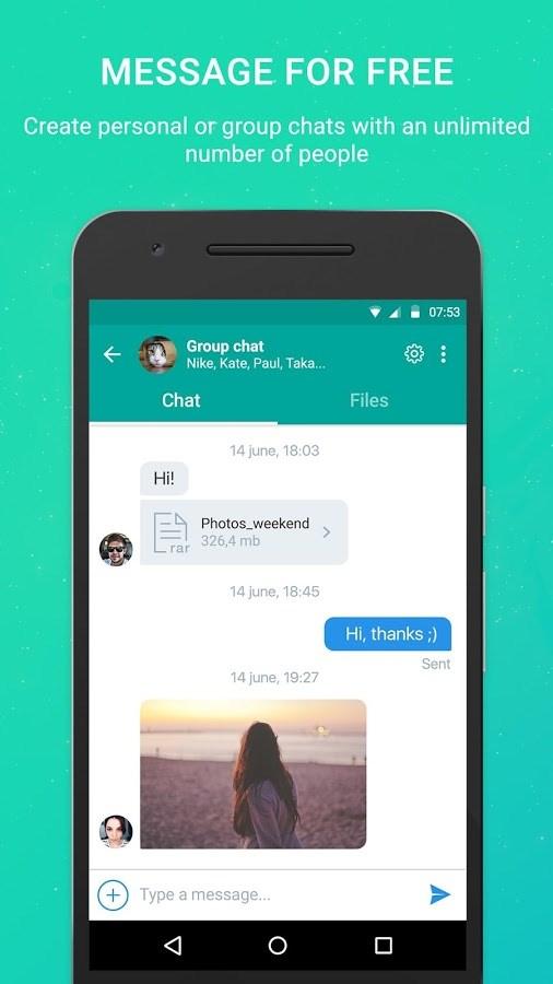 Pibox Messaging App - Imagem 1 do software
