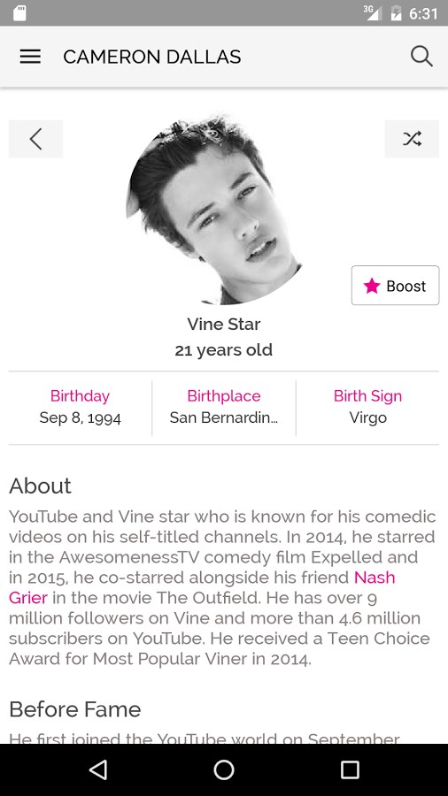 Famous Birthdays Download para Android Grátis