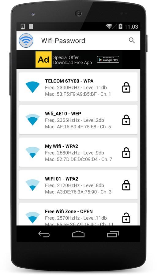 Wifi-Senha - Imagem 2 do software