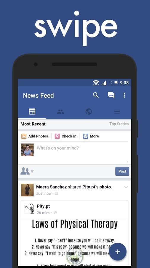 Swipe for Facebook - Imagem 1 do software