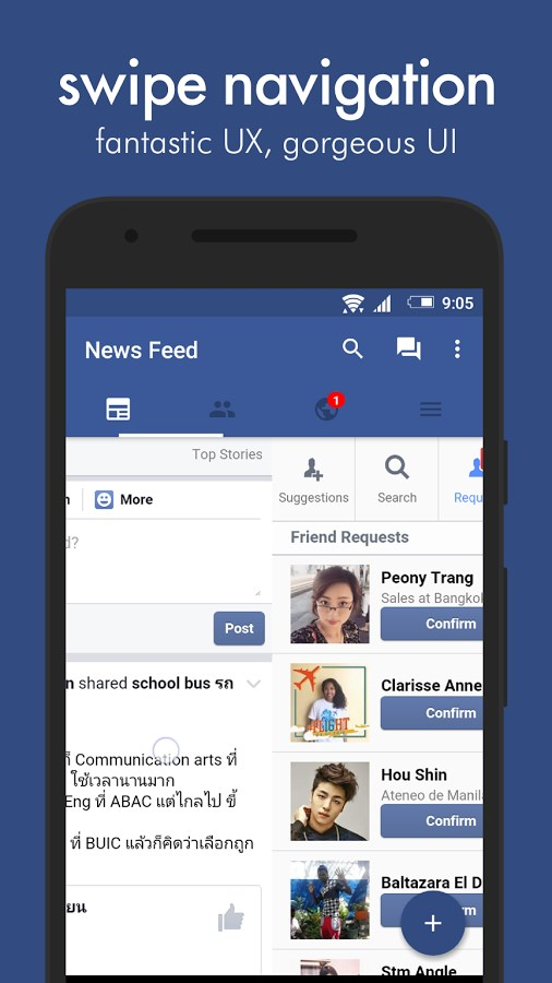 Swipe for Facebook - Imagem 2 do software