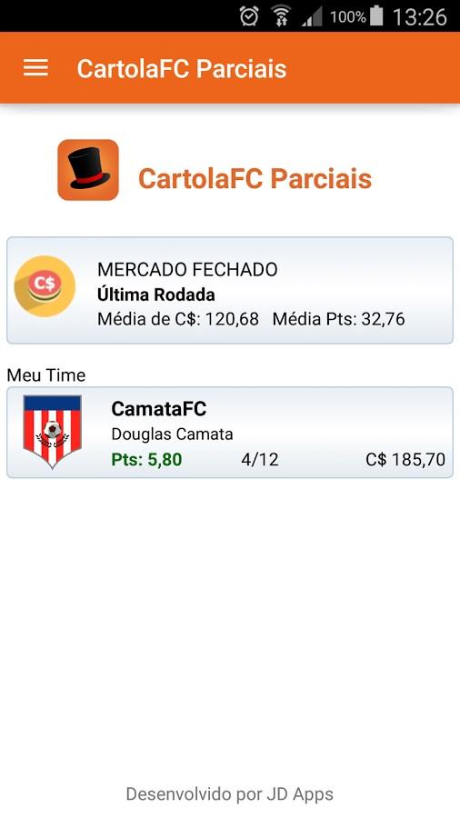 CartolaFC Parciais - Imagem 1 do software
