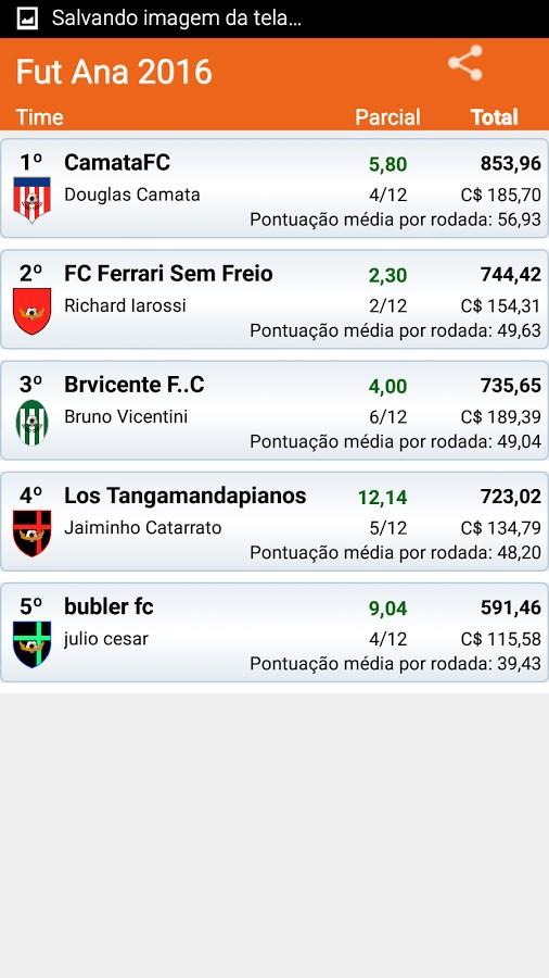 CartolaFC Parciais - Imagem 2 do software