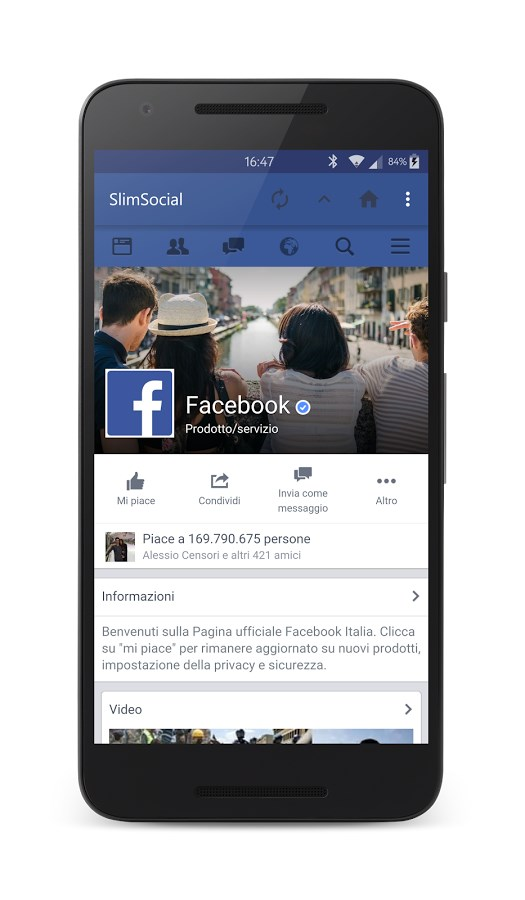 SlimSocial for Facebook - Imagem 1 do software