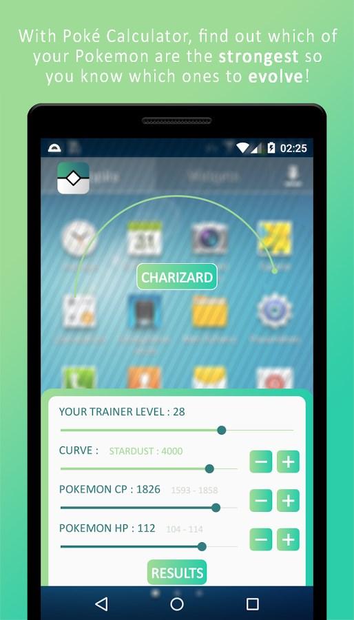 IV Calculator for Pokémon GO - Imagem 1 do software