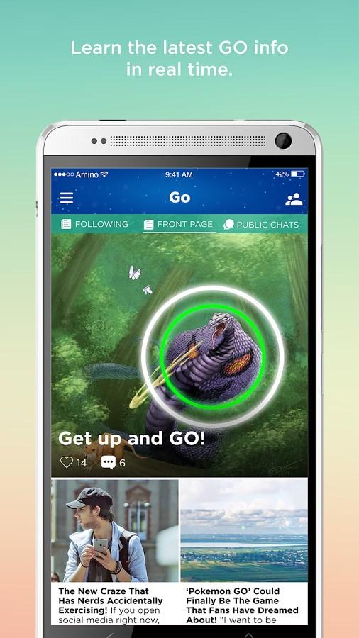 Amino Pokemon Go Finder & Chat - Imagem 1 do software