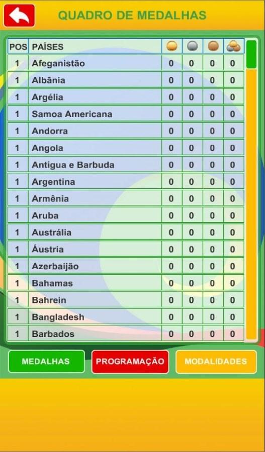 Tabela Jogos 2016 - Imagem 1 do software