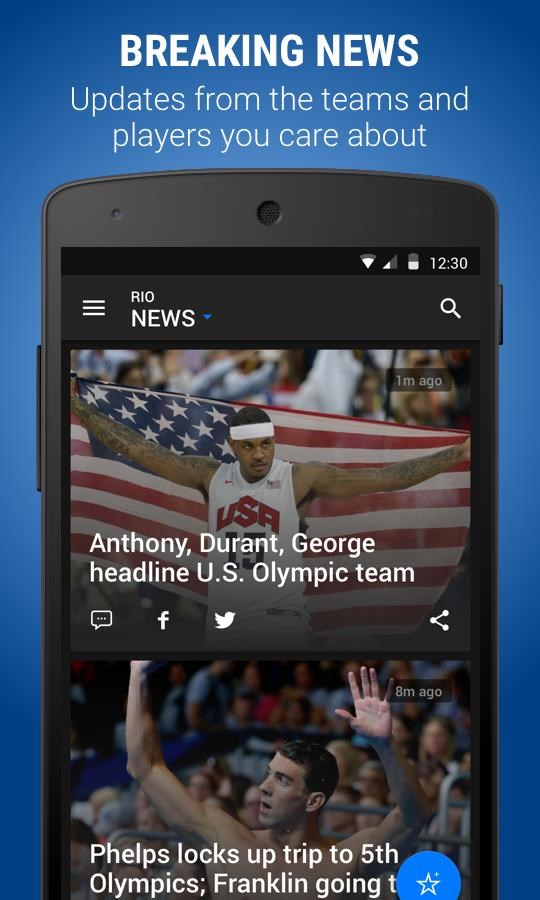 theScore: Sports Scores & News - Imagem 1 do software