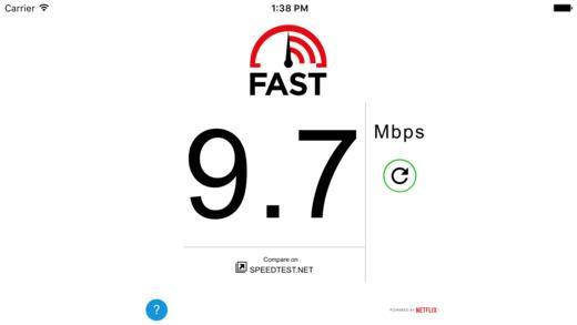 FAST Speed Test - Imagem 1 do software