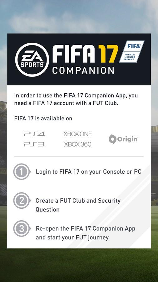 FIFA 17 Companion - Imagem 1 do software