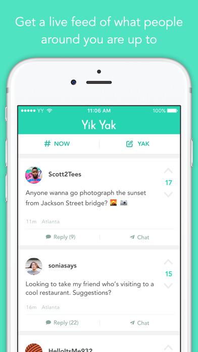 Yik Yak - Imagem 1 do software