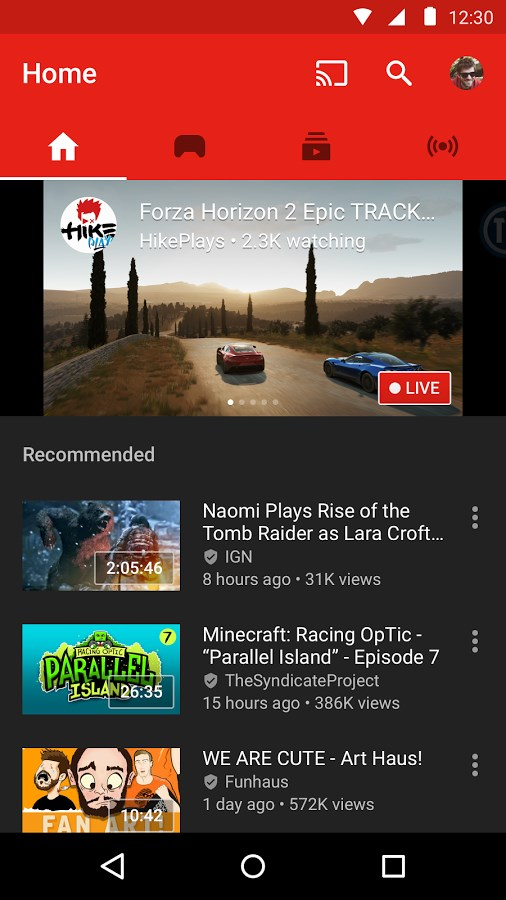 YouTube Gaming - Imagem 1 do software