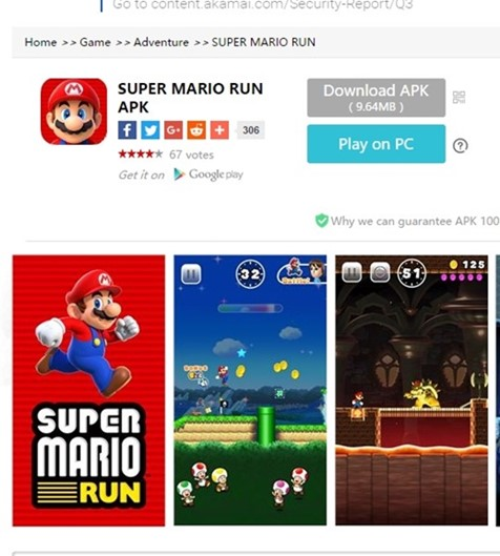 No Android, vírus se passa por Super Mario Run e rouba dados bancários