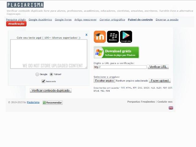 Plagiarisma - Imagem 1 do software