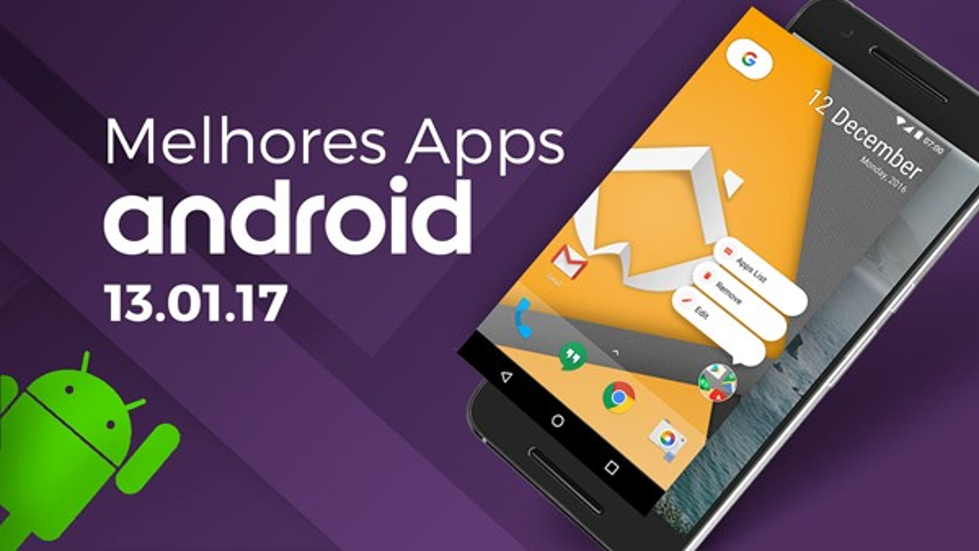 Melhores Apps para Android: 13/01/2017 [vídeo]