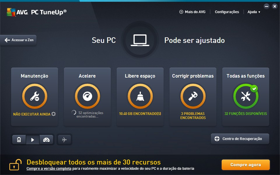 AVG PC Tuneup - Imagem 1 do software