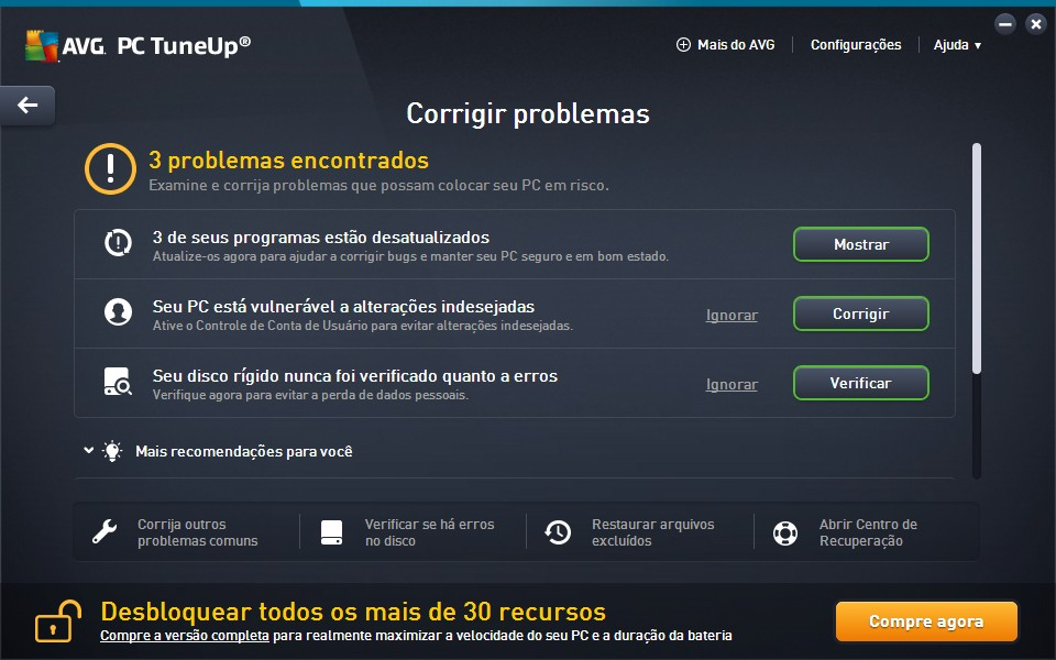 AVG PC Tuneup - Imagem 3 do software