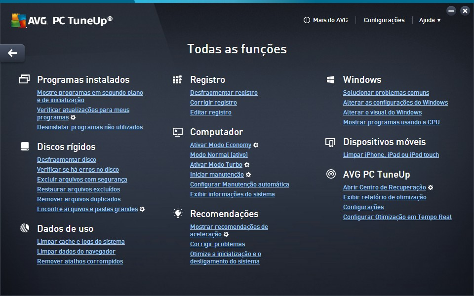 AVG PC Tuneup - Imagem 4 do software
