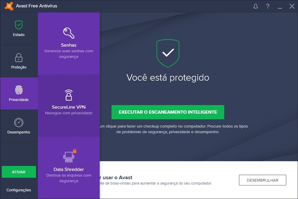 Avast Free Antivirus 2019 - Imagem 2 do software