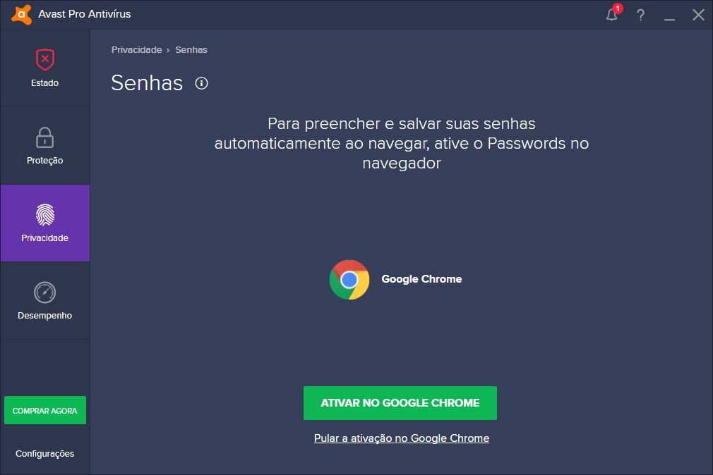 Avast Pro Antivirus 2019 - Imagem 2 do software