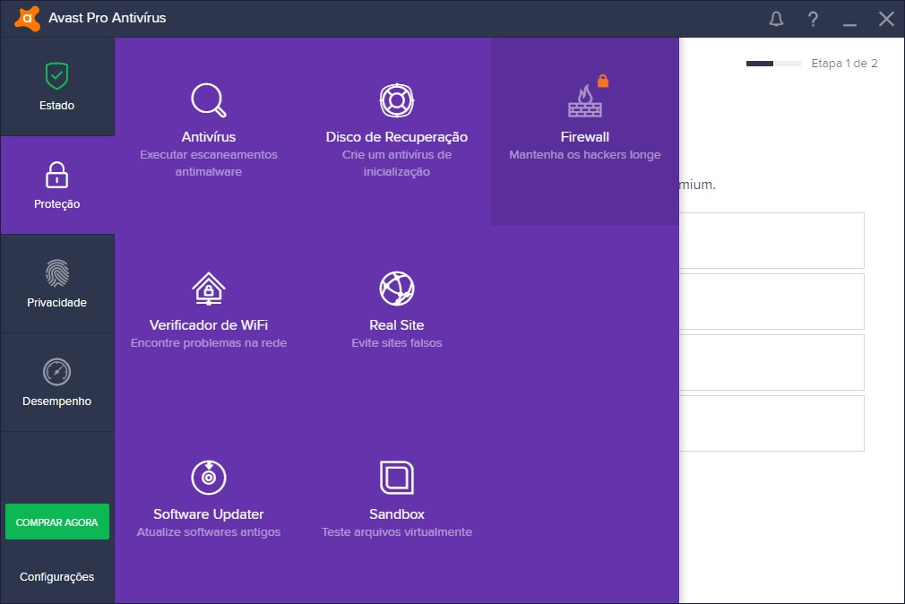 Avast Pro Antivirus 2019 - Imagem 3 do software