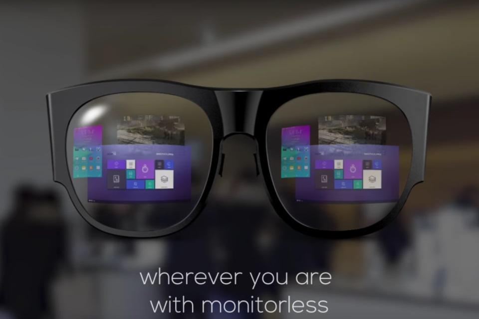 0c7531c0f Samsung mostra teaser de óculos de realidade aumentada para a MWC