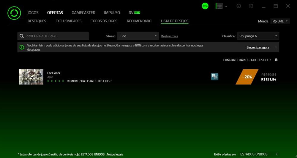 Razer Cortex - Imagem 1 do software