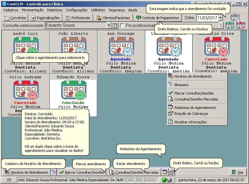 ContCLIN - Controle para Clínica - Imagem 1 do software