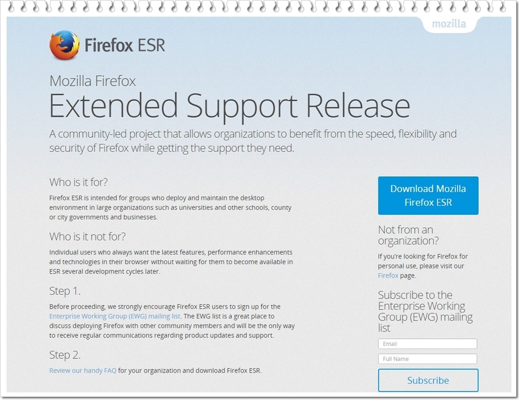 Mozilla Firefox Extended Support Release Download to Web Grátis