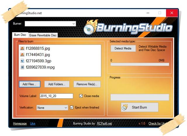 Burning Studio - Imagem 1 do software