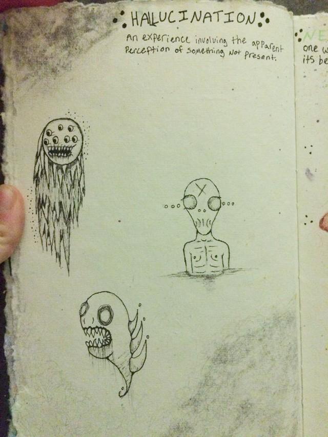 Doenca Ilustrada Jovem Com Esquizofrenia Desenha Sua Realidade
