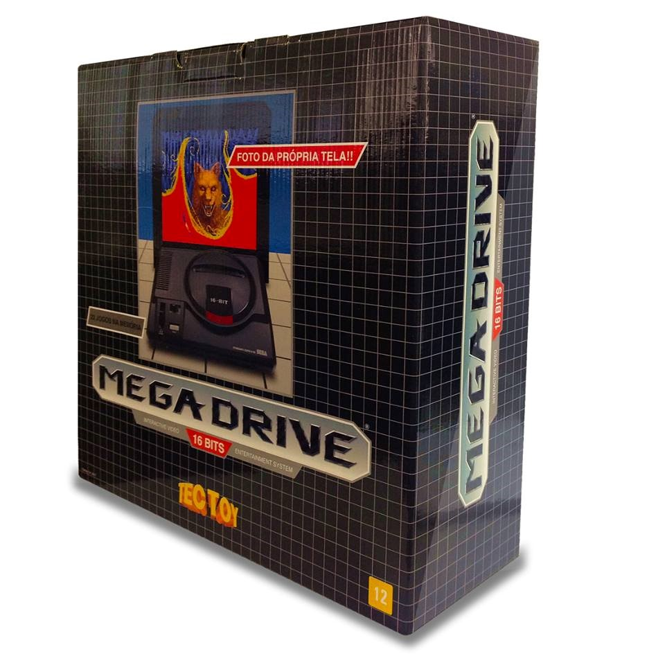 Conheça a caixa do Mega Drive relançado no Brasil – aliás, tá chegando!