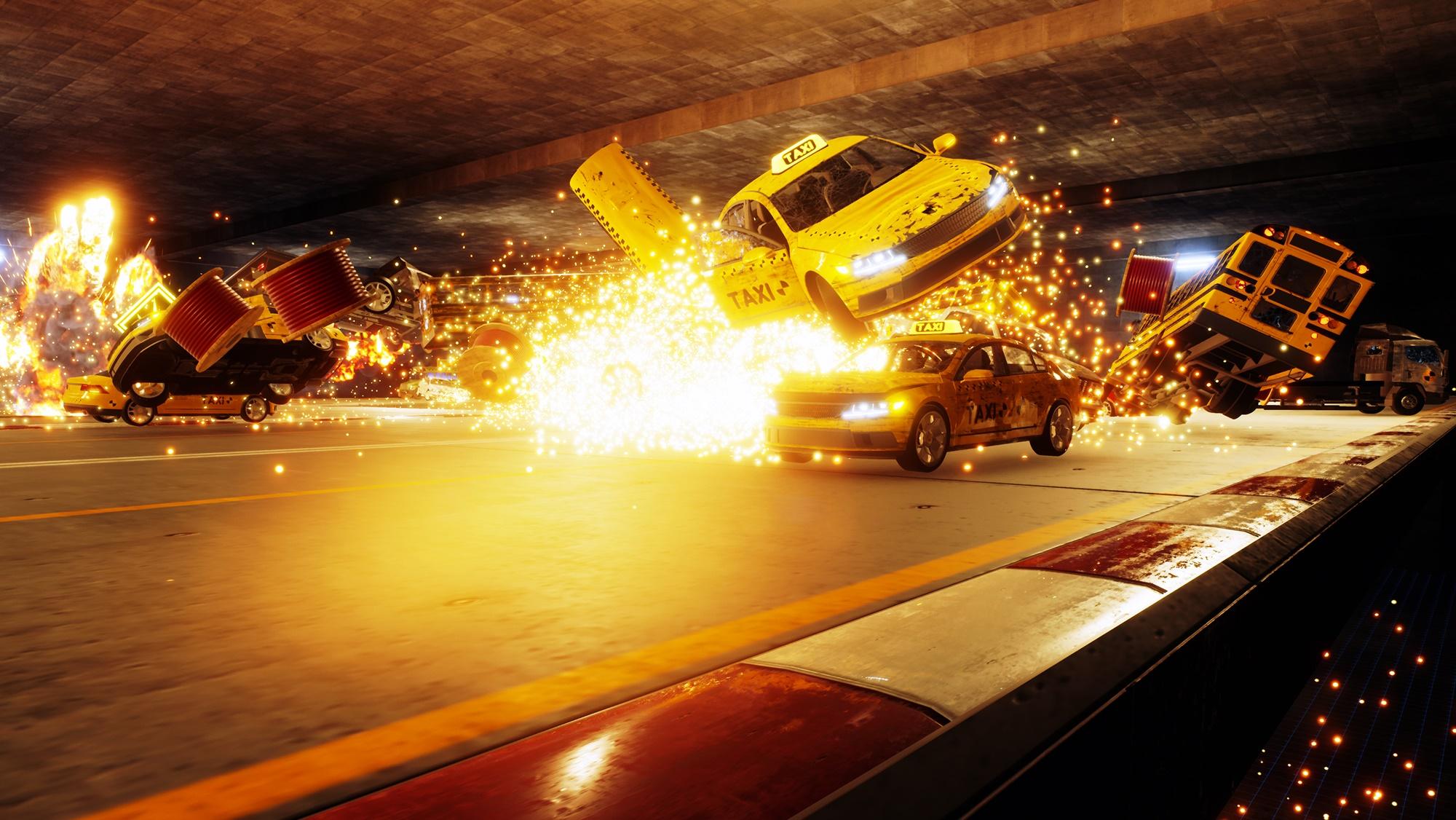 Dos criadores de Burnout, Danger Zone traz corridas destrutivas ao PS4 e PC