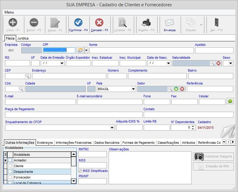 Controle de Transportadoras - Imagem 1 do software
