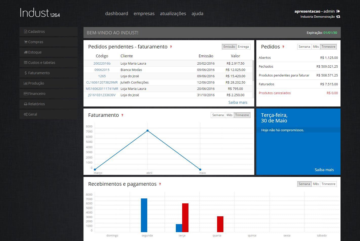 IndustWeb – Software para Industria de Confecção - Imagem 1 do software