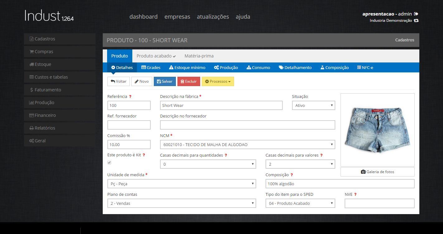 IndustWeb – Software para Industria de Confecção - Imagem 2 do software