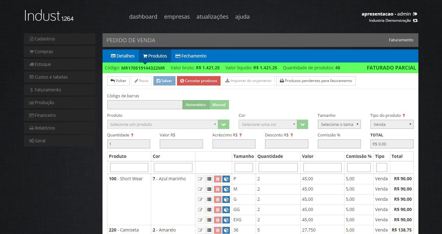 IndustWeb – Software para Industria de Confecção - Imagem 4 do software